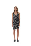 Aspen - Midi Dress in Courchevel Floral Black and Cream