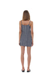 Aspen - Micro Mini Dress in Nolita Navy and White Stripe