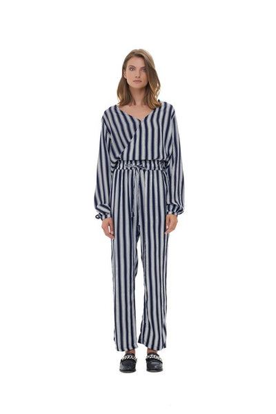 Lily - Top in Nolita Navy and White Stripe