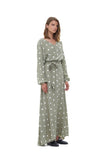 Lily - Top in Marais Polka Dot Sage Green and White