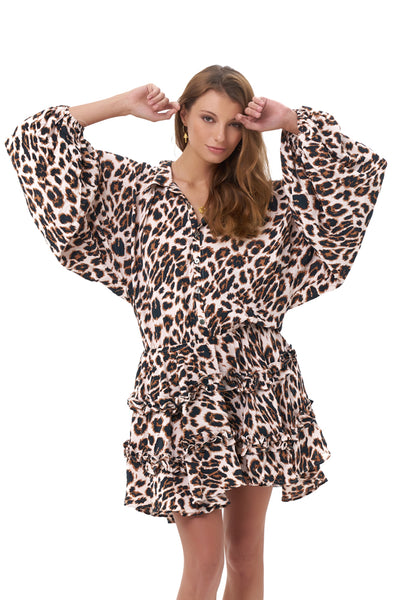 Willow - Long Sleeve in Leopard Print