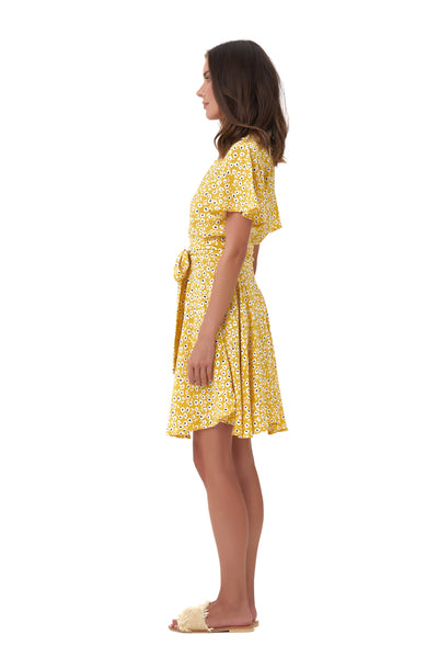 Anouck - Micro Dress in Vintage Flower Yellow