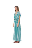 Aia - Maxi Dress in Stripe Sea Green