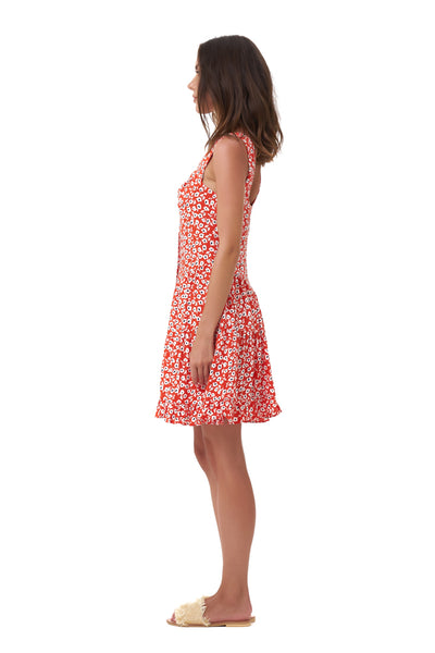 Dilone - Dress in Vintage Flower Red