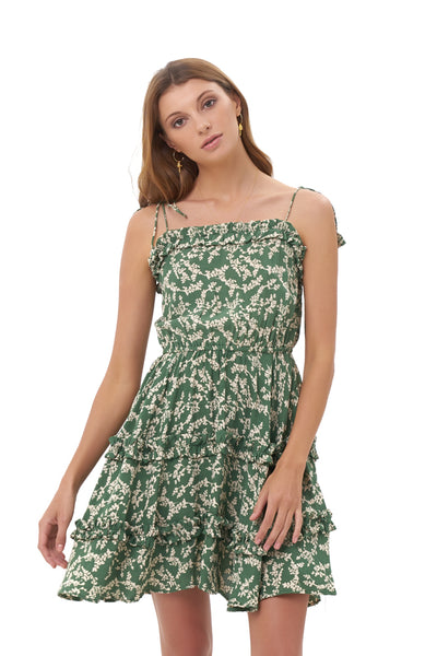 Delilah - Dress in Ivy Dill and Birch