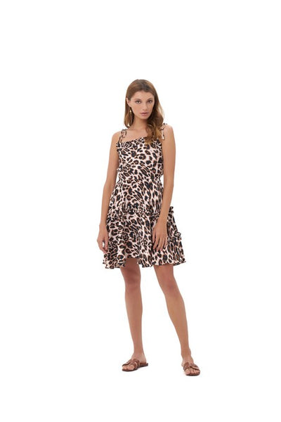 Delilah - Dress in Leopard Print