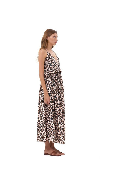Ariana - Maxi Dress in Leopard Print