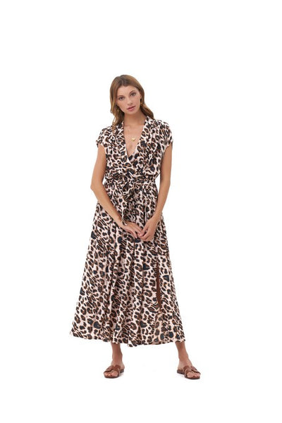 Aia - Maxi Dress in Leopard Print
