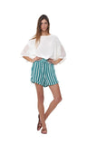 Joie - Short in Stripe Sea Green