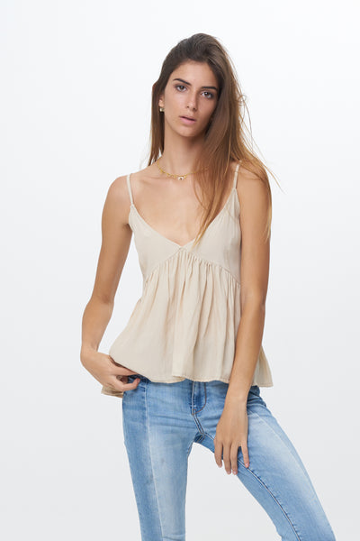 Ksenia - Baby Doll Camisole Top in Bircher