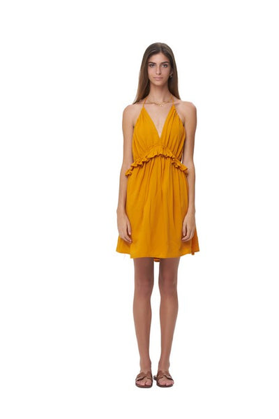 Ariana - Dress in Plain Citrus