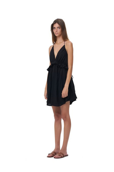 Ariana - Dress in Plain Black