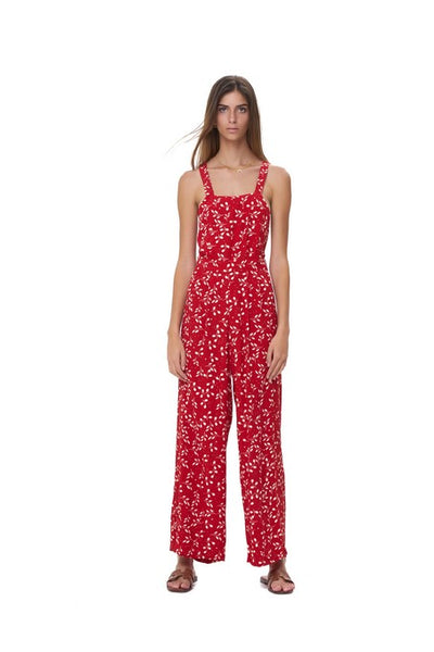 Kinga - Pant Jumpsuit in Gum Nut Leaves Chili