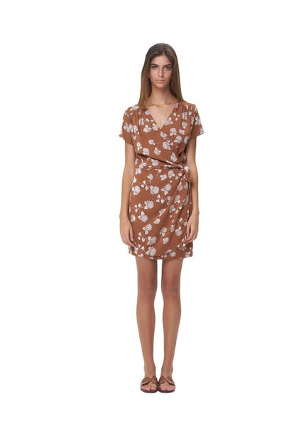 Clemence - Dress in Lantana Sunburnt