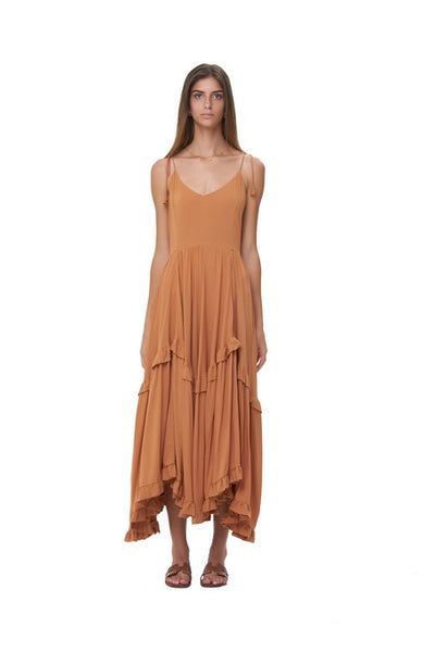 Valere - Maxi Dress in Plain Sunburnt