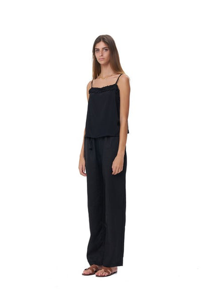 Iva - Pant in Black Linen