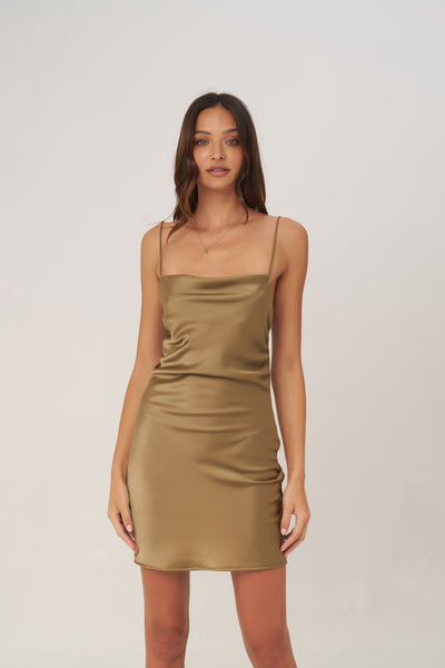 Crawford - Mini Dress in Olive