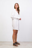 Twiggy - Shirt Dress in White