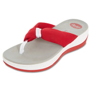Womens Summer Extreme Comfort Thong Flip Flop Sport Sandals (Red)