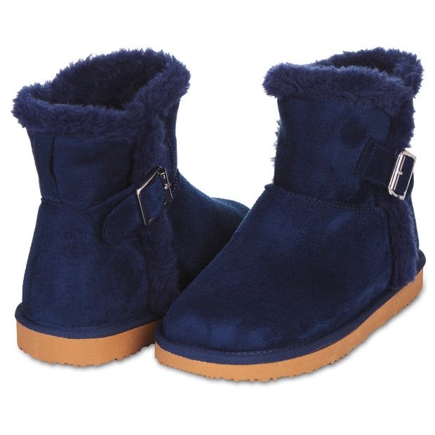 Floopi Classic Mid-Calf Cut Winter Boots for Women (Navy)