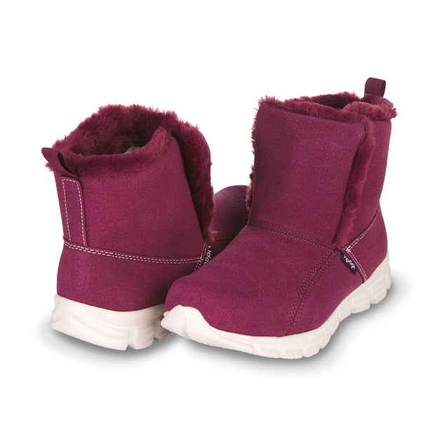 Floopi Winter Boots for Women Sporty Lightweight Elastic Slip Ankle Height boot (Purple)