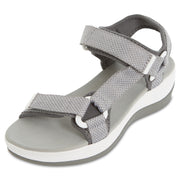 Womens Summer Extreme Comfort Multi Adjustable Strap Sports Sandal (Grey)