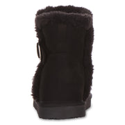 Floopi Classic Mid-Calf Cut Winter Boots for Women (Black)