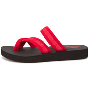 Womens EVA Comfort Toe Thong Cross Cross Slide (Red)