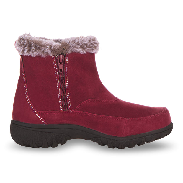 Floopi Boots for Women All Weather Cold Resistant Ankle Height (Burgundy)