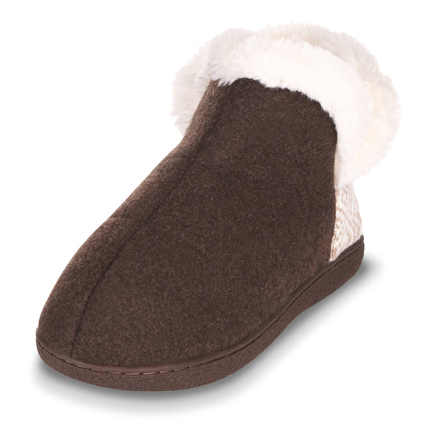 Floopi Indoor, Outdoor Slippers for Women Ankle High, Triple Memory Foam Insole (Brown))