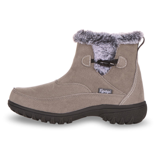 Floopi Boots for Women All Weather Cold Resistant Ankle Height (Charcoal Grey)