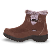 Floopi Boots for Women All Weather Cold Resistant Ankle Height (Brown)