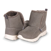 Floopi Winter Boots for Women Sporty Lightweight Elastic Slip Ankle Height boot (Grey)