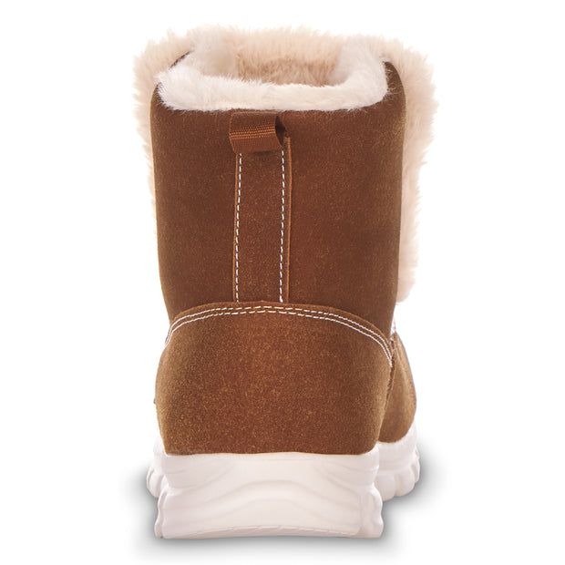 Floopi Winter Boots for Women Sporty Lightweight Elastic Slip Ankle Height boot (Camel)