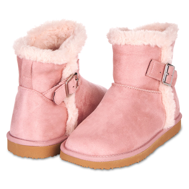 Floopi Classic Mid-Calf Cut Winter Boots for Women (Pink)