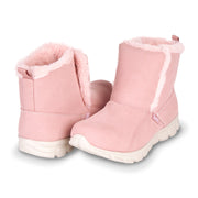 Floopi Winter Boots for Women Sporty Lightweight Elastic Slip Ankle Height boot (Pink)