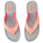 Womens Comfort Thong Flip Flop Sandals with EVA Molded Cushion (Coral)
