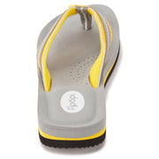 Womens Comfort Thong Flip Flop Sandals with EVA Molded Cushion (Yellow)