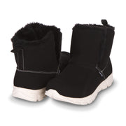 Floopi Winter Boots for Women Sporty Lightweight Elastic Slip Ankle Height boot (Black)