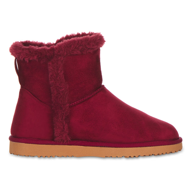Floopi Classic Mid-Calf Cut Winter Boots for Women (Burgundy)