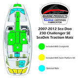 SeaDek Walk Through Mats for 2007-2012 SeaDoo 230 SE/Wake