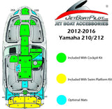 Yamaha 210/212 Hydro-Turf Large Engine Step Over Mat (12-16 MY)