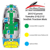 SeaDek Engine Step Over Small for Yamaha 21 Foot Sport Boats (2017-Current)