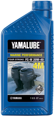 Yamaha 4-M 4-Cycle Marine Oil 10W30 - 1QT