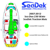 Faux Teak SeaDek For SeaDoo 230 Wake