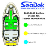 Faux Teak SeaDek For SeaDoo Utopia 205