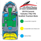 SeaDek Engine Step Over Small Pad for Yamaha 19 Foot Sport Boats (2019-Current)