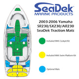 SeaDek Engine Step Over Small for Yamaha 23 Foot Boats (2003-2006)