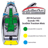 SeaDek Port and Starboard Bow Mats for Scarab 195 (14-Current MY)