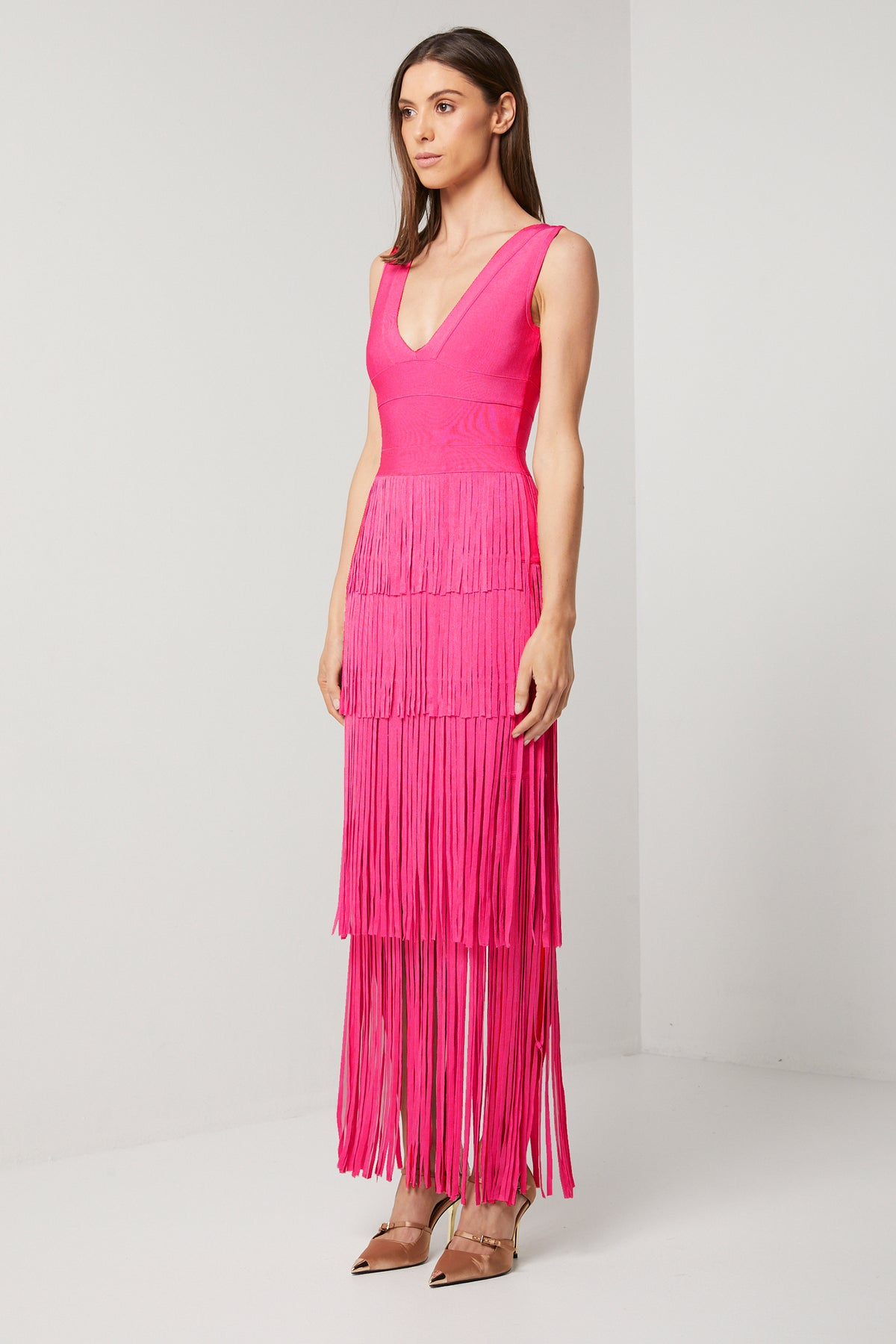 DIMENSION FRINGE DRESS